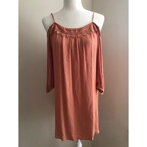 Forever 21 Apricot Open Shoulder Dress